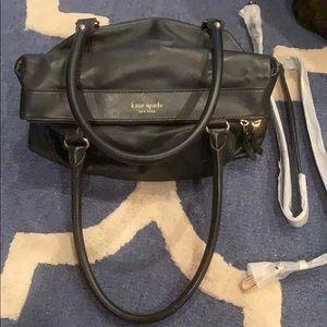 Kate Spade black leather shoulder bag with strap